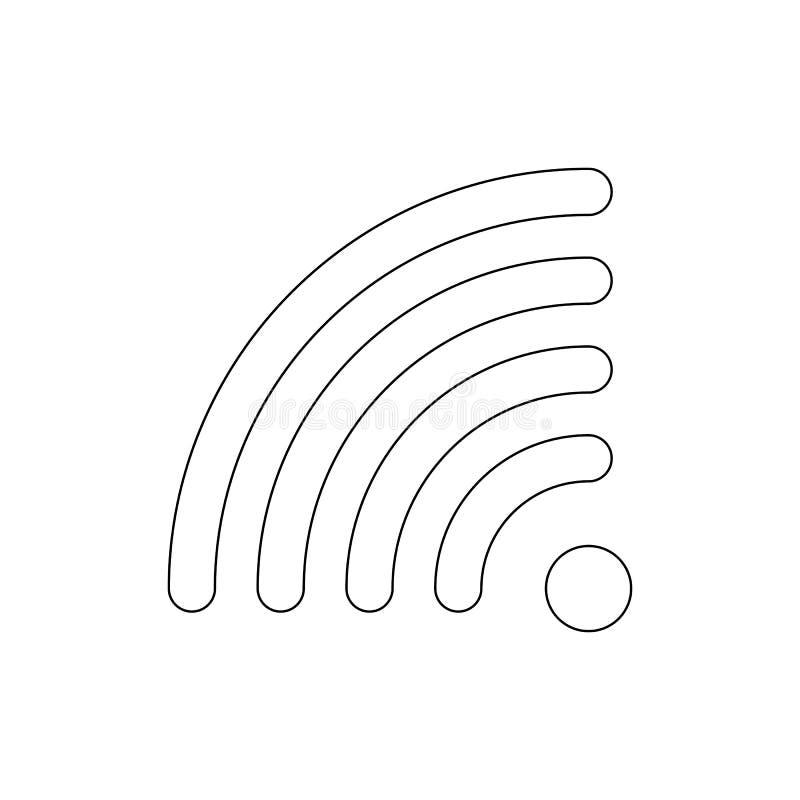 Icono del esquema de los wi fi de Rss Las muestras y los s?mbolos se pueden utilizar para la web, logotipo, app m?vil, UI, UX stock de ilustración