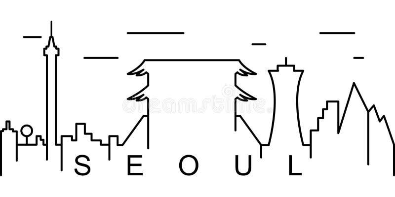 Icono del esquema de Seúl Puede ser utilizado para la web, logotipo, app móvil, UI, UX libre illustration
