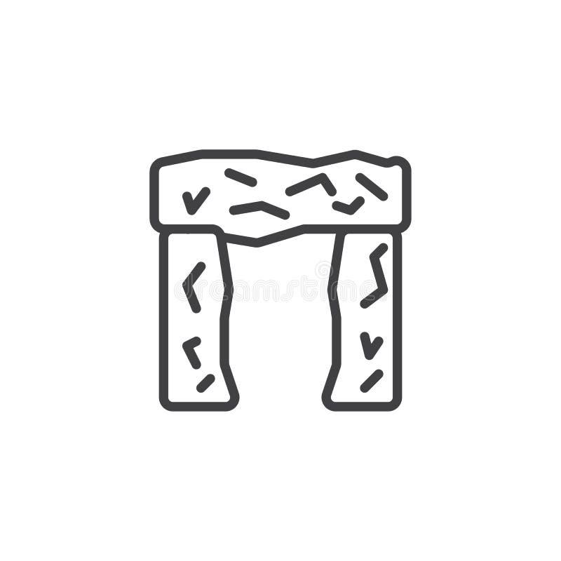 Icono del esquema de Stonehenge libre illustration