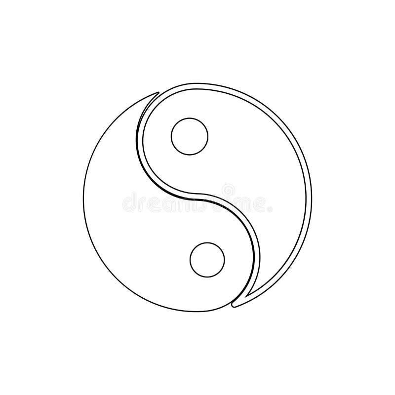 Icono del esquema de Yin yang Las muestras y los s?mbolos se pueden utilizar para la web, logotipo, app m?vil, UI, UX libre illustration
