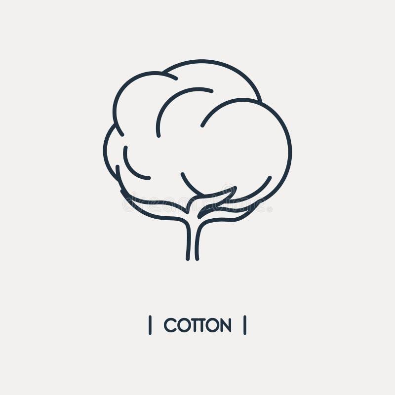 Icono del esquema del algodón stock de ilustración
