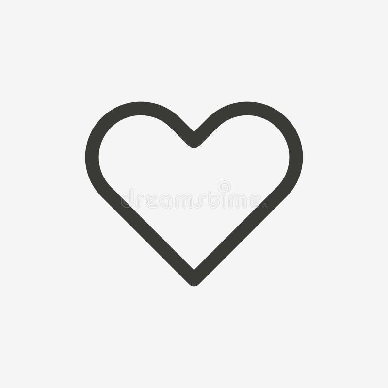 Icono del esquema del corazón libre illustration