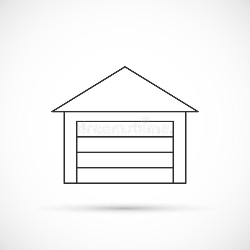 Icono del esquema del garaje libre illustration