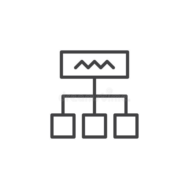 Icono del esquema del diagrama stock de ilustración