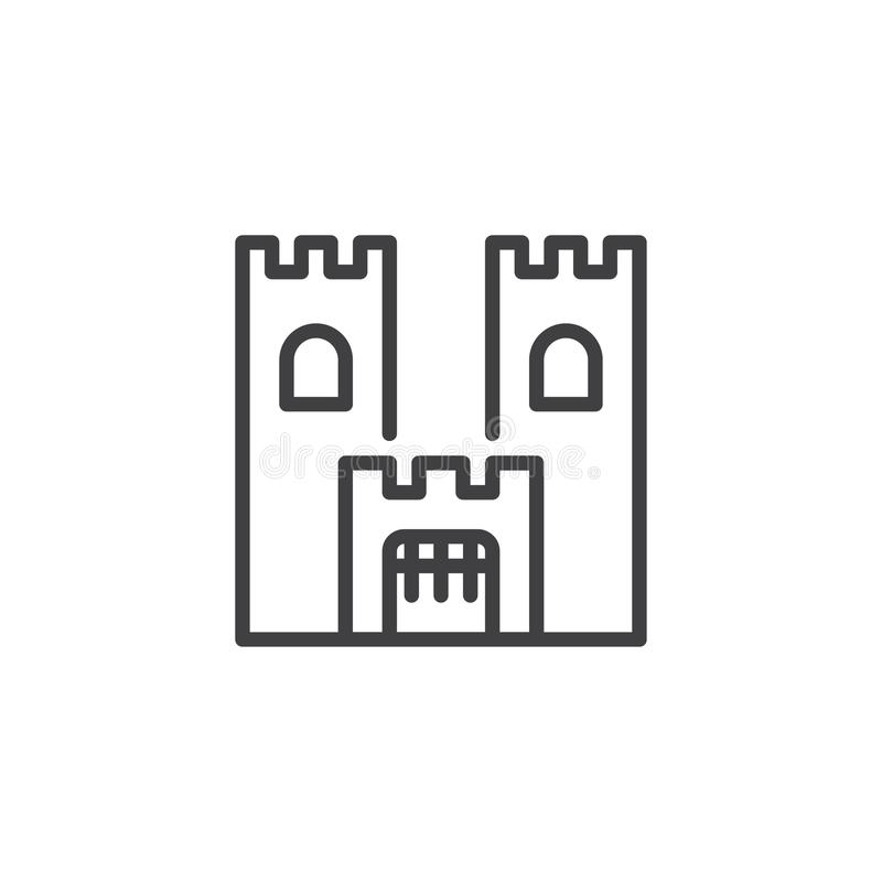 Icono del esquema del edificio del castillo libre illustration