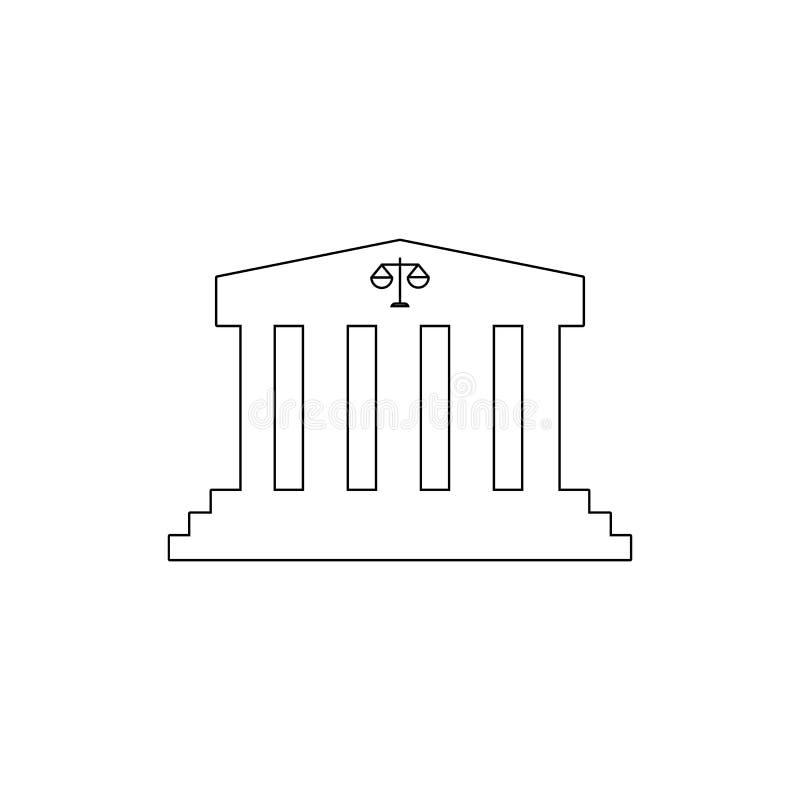 icono del esquema del edificio de la corte Elementos del icono del ejemplo de los edificios Las muestras y los s?mbolos se pueden stock de ilustración