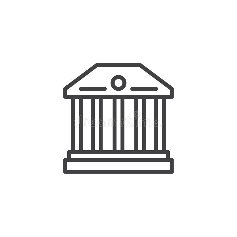 Icono del esquema del edificio del museo libre illustration