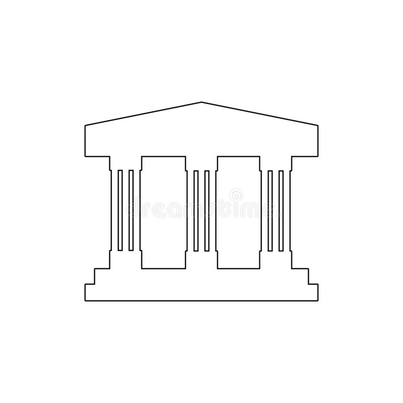 Icono del esquema del edificio del museo Elementos del icono del ejemplo de los edificios Las muestras y los s?mbolos se pueden u ilustración del vector