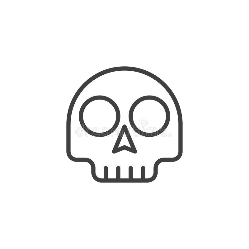 Icono del esquema del emoticon del cráneo libre illustration