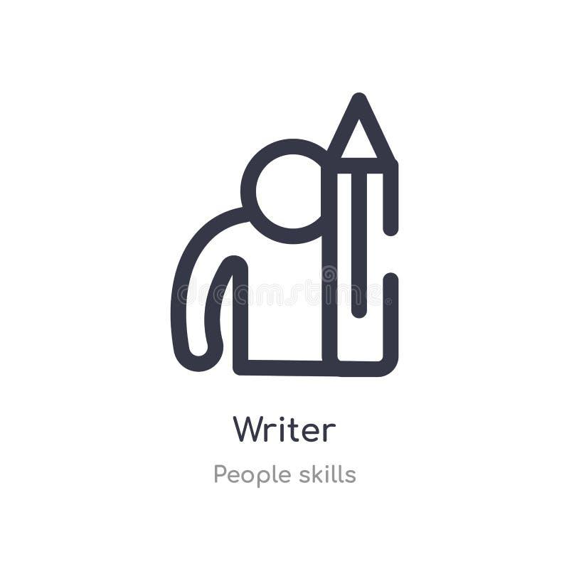 icono del esquema del escritor l?nea aislada ejemplo del vector de la colecci?n de las habilidades de la gente icono fino editabl ilustración del vector