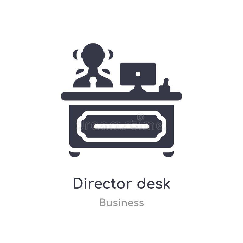 icono del esquema del escritorio del director l?nea aislada ejemplo del vector de la colecci?n del negocio icono fino editable de libre illustration