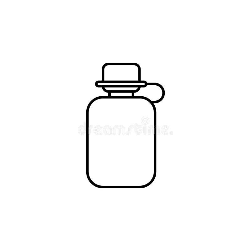 Icono del esquema del frasco Elemento del icono del campamento de verano Dise?o gr?fico de la calidad superior Muestras e icono d imagen de archivo