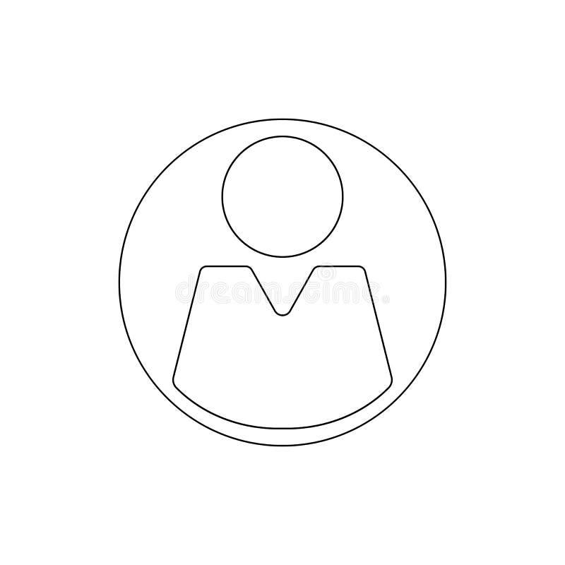 Icono del esquema del hombre del usuario Las muestras y los s?mbolos se pueden utilizar para la web, logotipo, app m?vil, UI, UX stock de ilustración