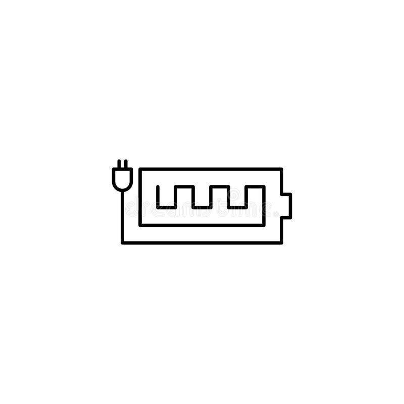 Icono del esquema del indicador de la batería stock de ilustración