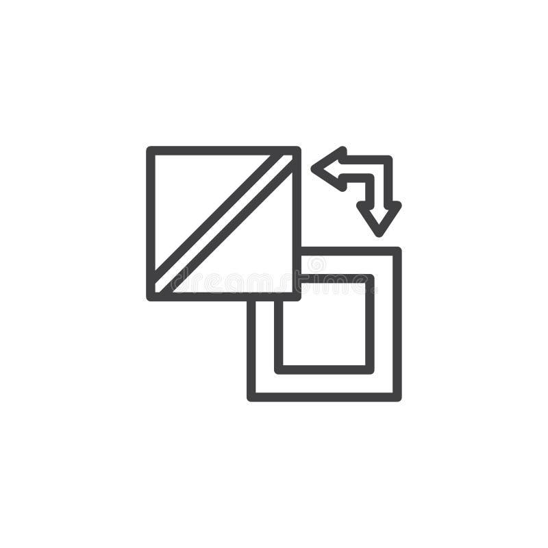 Icono del esquema del intercambio stock de ilustración