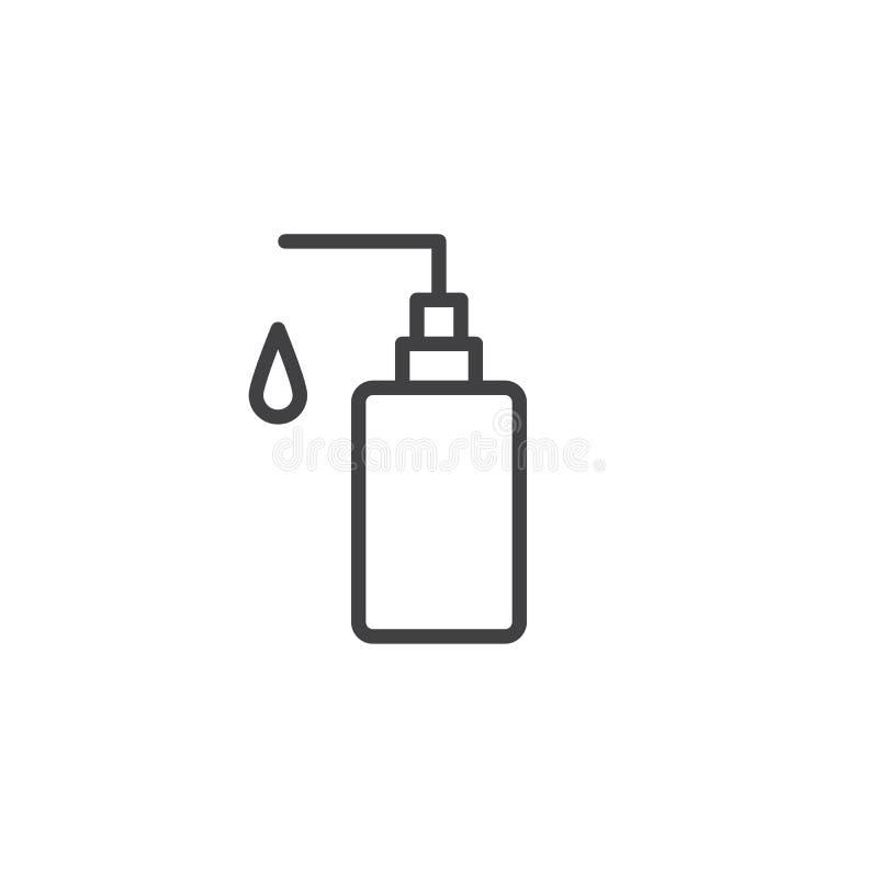 Icono del esquema del jabón de la mano stock de ilustración