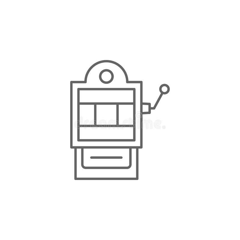 icono del esquema del juego de juego de la máquina tragaperras Elementos del icono del ejemplo del Día de la Independencia Las mu libre illustration