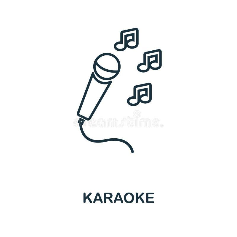 Icono del esquema del Karaoke Ejemplo simple del elemento Diseño del símbolo del icono del Karaoke de la colección del esquema de libre illustration