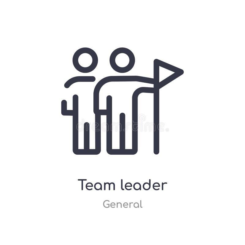 icono del esquema del líder de equipo l?nea aislada ejemplo del vector de la colecci?n general icono fino editable del líder de e ilustración del vector