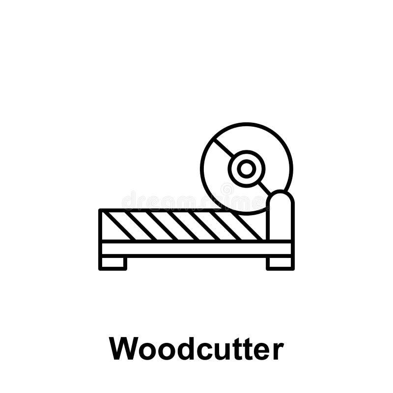 Icono del esquema del leñador Elemento del icono del ejemplo del Día del Trabajo Las muestras y los símbolos se pueden utilizar p ilustración del vector