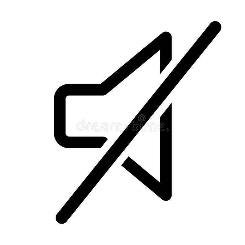 Icono del esquema del modo silencioso libre illustration