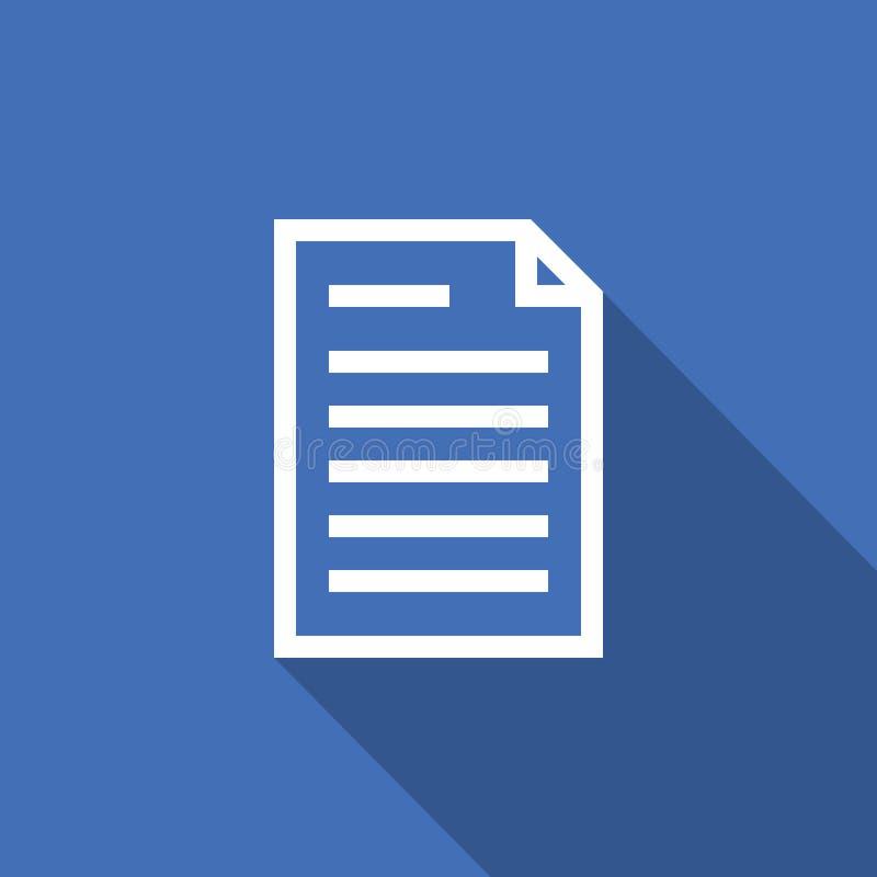 icono del esquema del papel del documento de la hoja de cálculo línea estilo fina para el gráfico y el diseño web Ejemplo plano s ilustración del vector