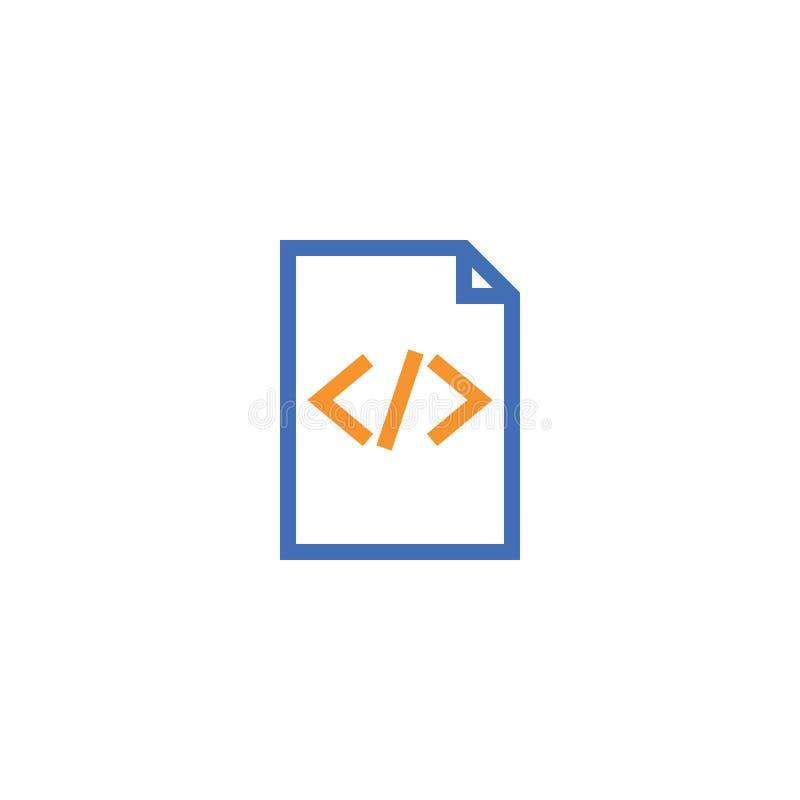 Icono del esquema del papel del documento del HTML icono aislado del papel de nota en la línea estilo fina para el gráfico y el d stock de ilustración