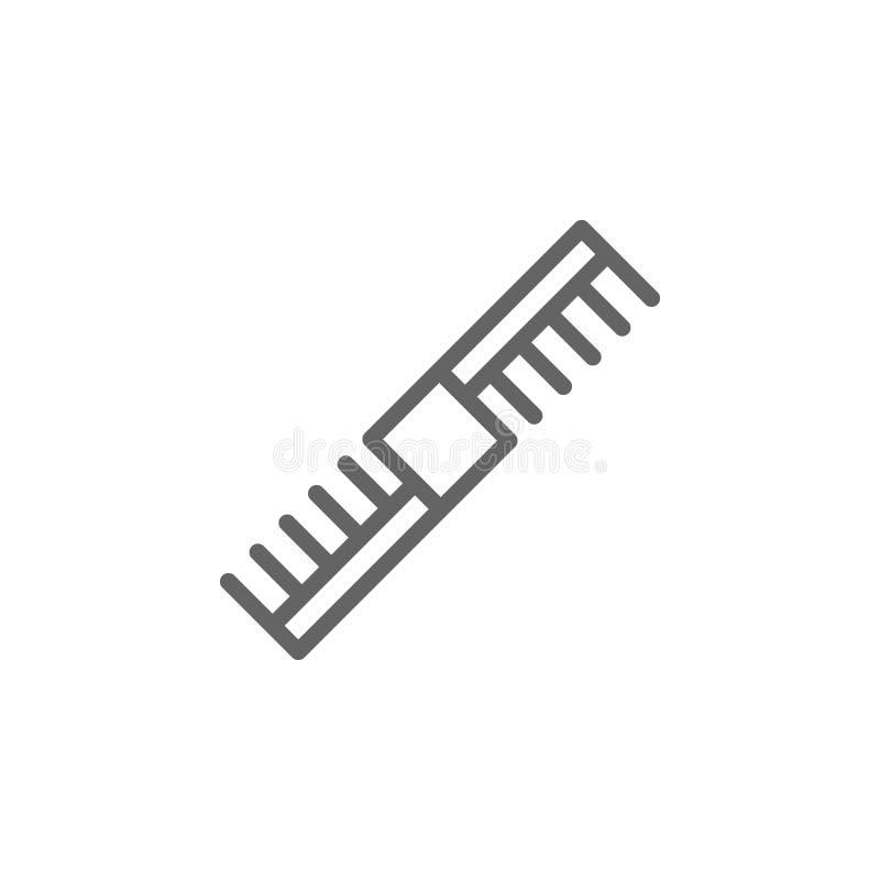 Icono del esquema del peine de las mujeres Elementos icono del ejemplo de la belleza y de los cosm?ticos Las muestras y los s?mbo ilustración del vector