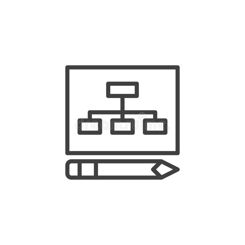 Icono del esquema del plan empresarial libre illustration