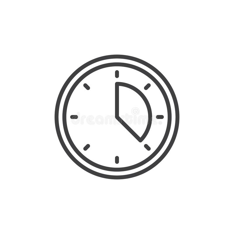 Icono del esquema del planeamiento del tiempo stock de ilustración