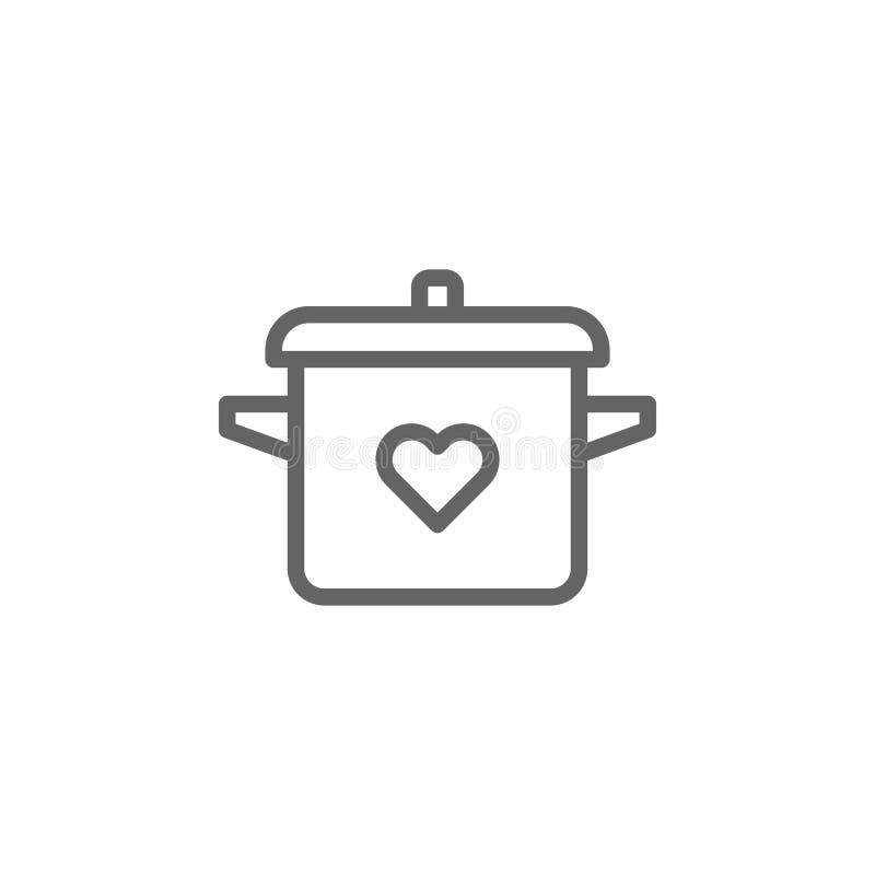 Icono del esquema del pote del d?a de madres r Las muestras y los s?mbolos se pueden utilizar para la web, logotipo, app m?vil, stock de ilustración