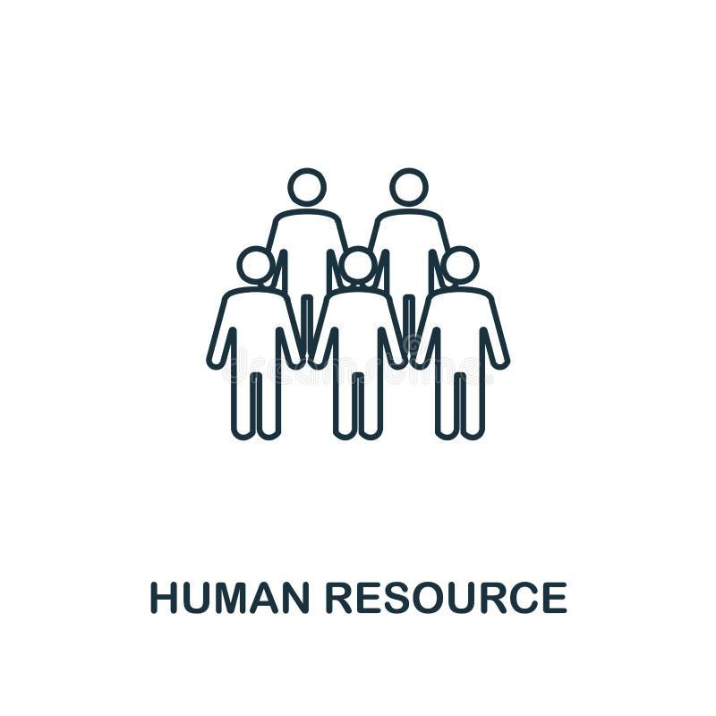 Icono del esquema del recurso humano Diseño superior del estilo de la colección de los iconos de la gestión del proyecto Icono si libre illustration