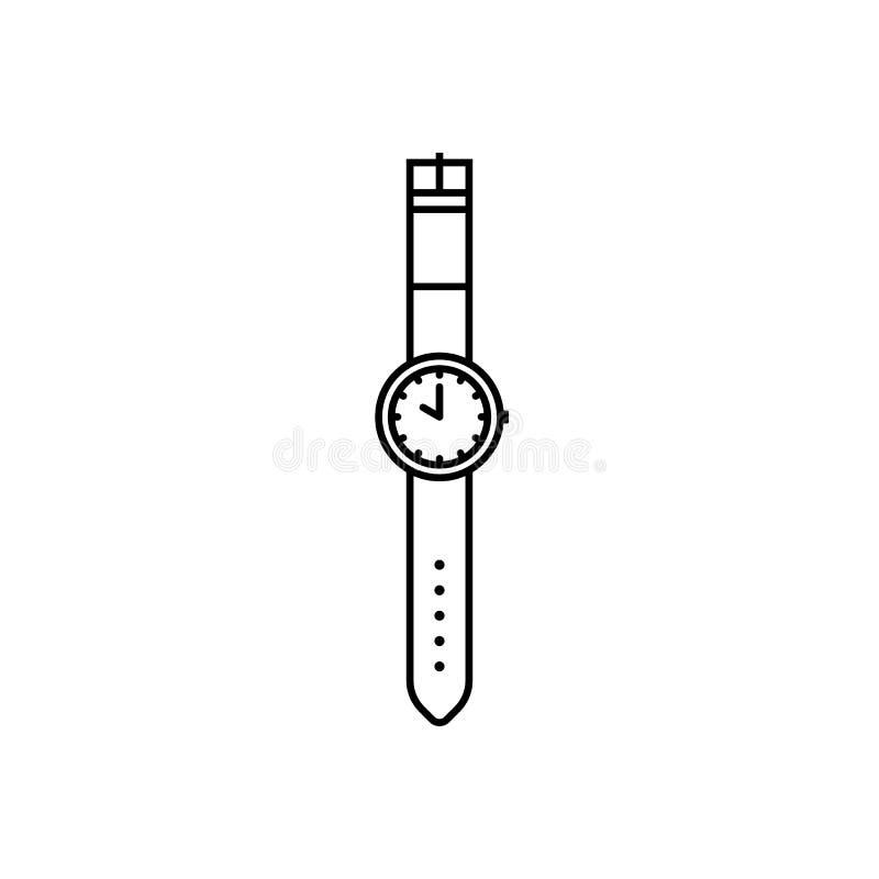 Icono del esquema del reloj de la mano ilustración del vector