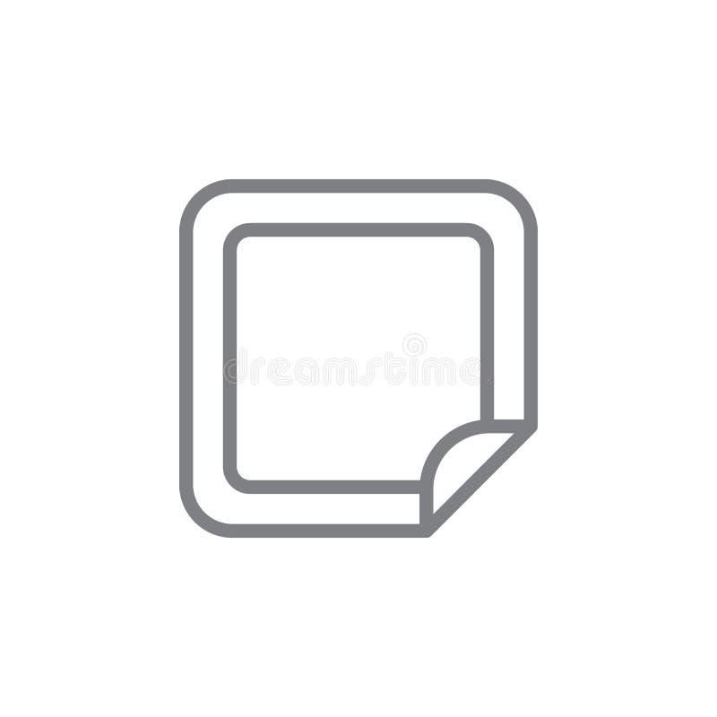 Icono del esquema del remiendo de la nicotina Elementos del icono del ejemplo de las actividades que fuma Las muestras y los s?mb stock de ilustración