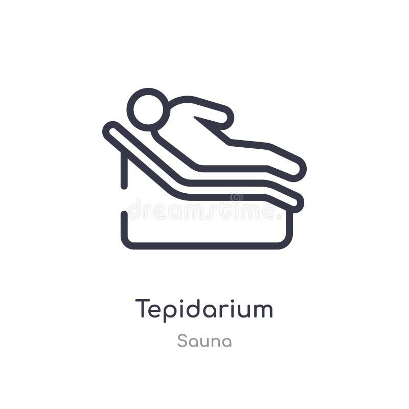 icono del esquema del tepidarium l?nea aislada ejemplo del vector de la colecci?n de la sauna icono fino editable del tepidarium  ilustración del vector