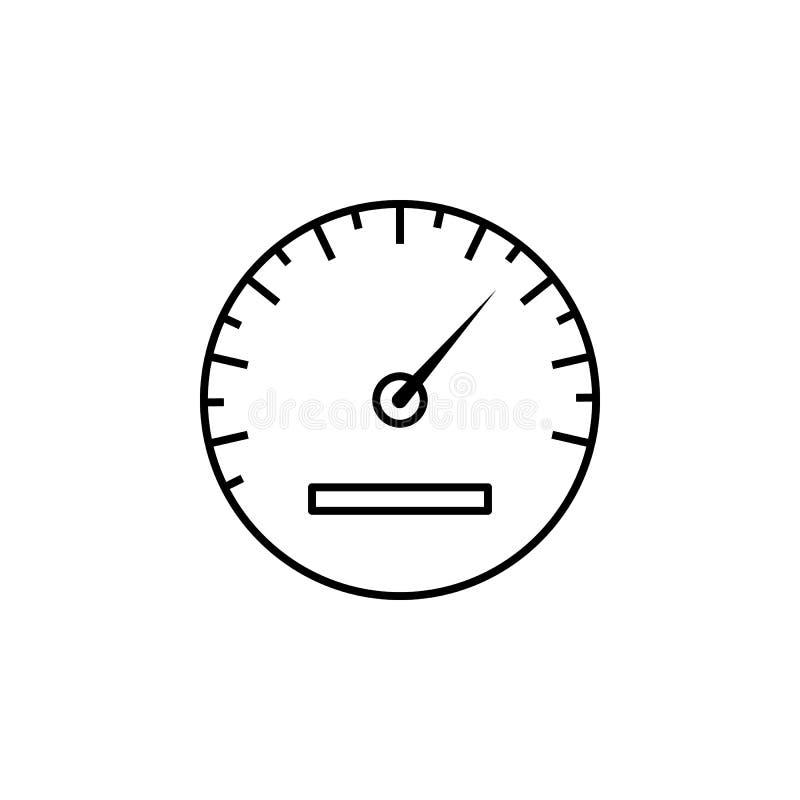 Icono del esquema del velocímetro Puede ser utilizado para la web, logotipo, app móvil, UI, UX ilustración del vector