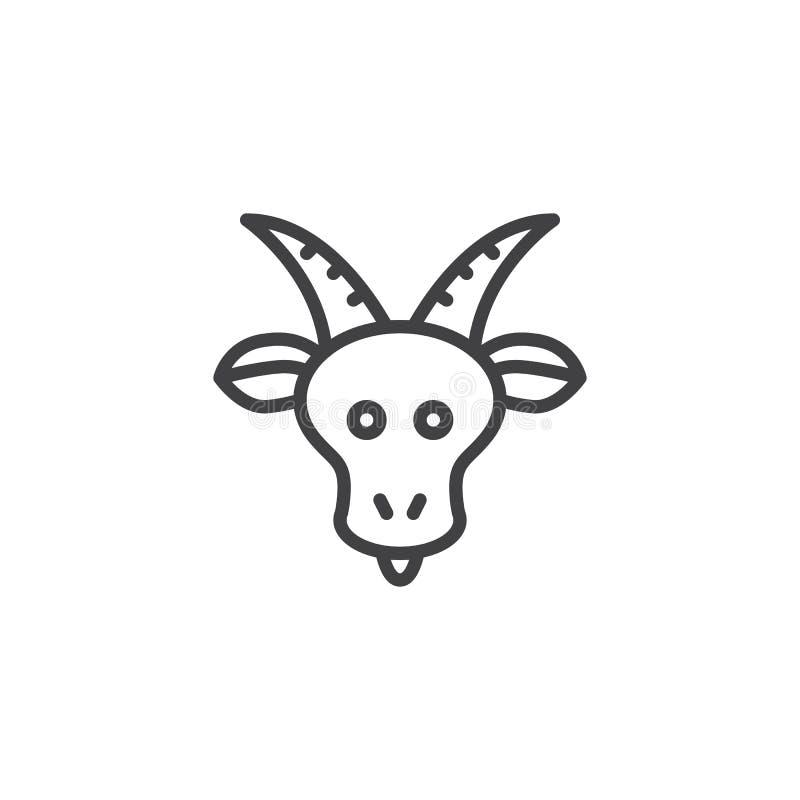 Icono del esquema del zodiaco del Capricornio stock de ilustración