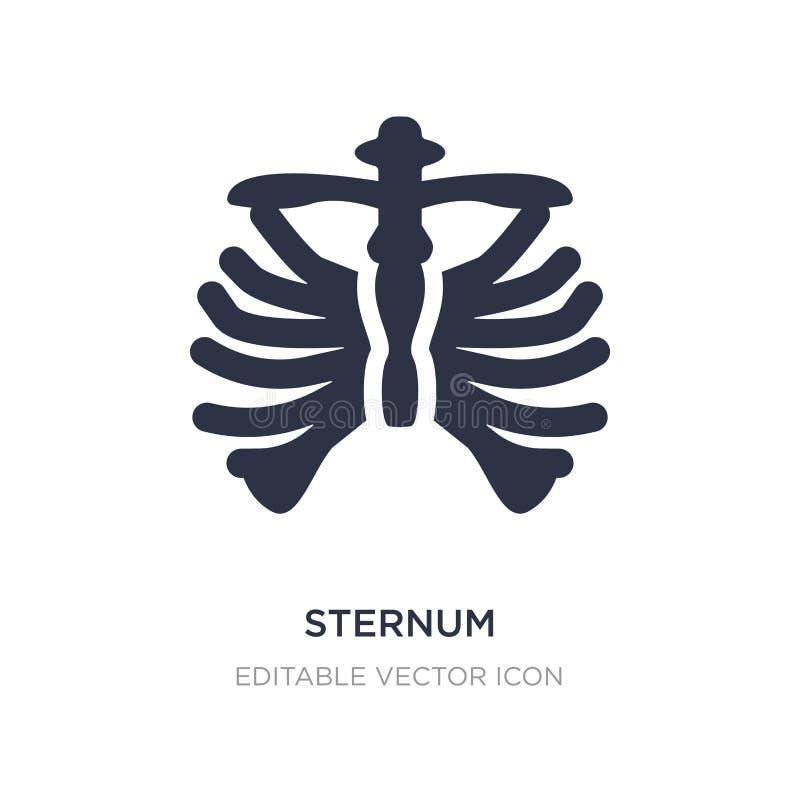 icono del esternón en el fondo blanco Ejemplo simple del elemento del concepto médico libre illustration