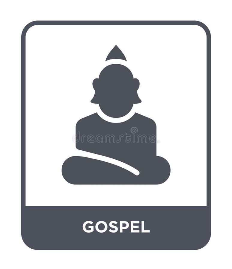 icono del evangelio en estilo de moda del diseño icono del evangelio aislado en el fondo blanco símbolo plano simple y moderno de ilustración del vector