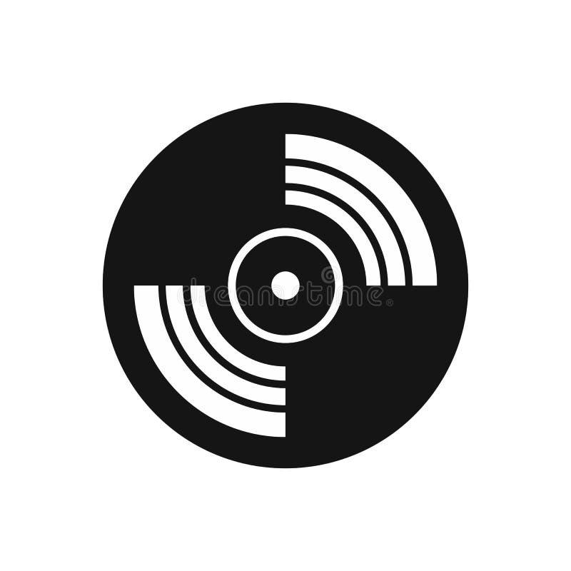 Icono del expediente de LP del vinilo del gramófono, estilo simple ilustración del vector
