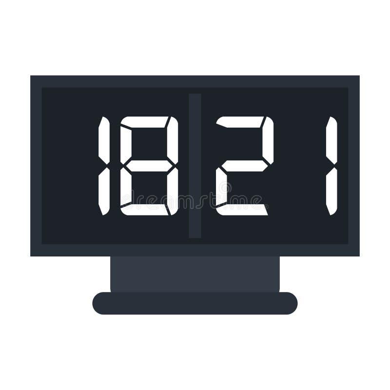 Icono del fútbol americano de la cuenta del tablero stock de ilustración