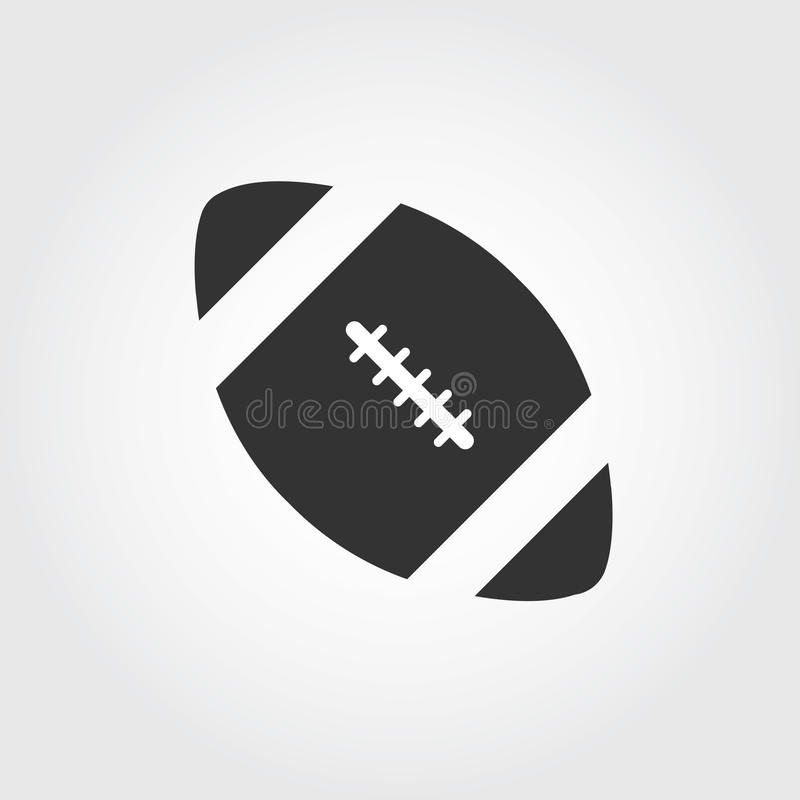Icono del fútbol americano, diseño plano libre illustration
