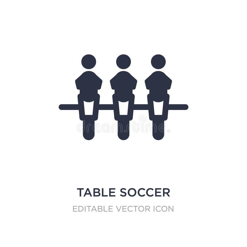 icono del fútbol de la tabla en el fondo blanco Ejemplo simple del elemento del concepto del entretenimiento ilustración del vector