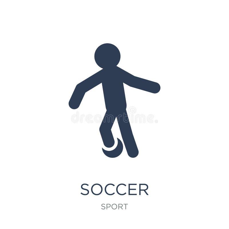 Icono del fútbol Icono plano de moda del fútbol del vector en el fondo blanco ilustración del vector