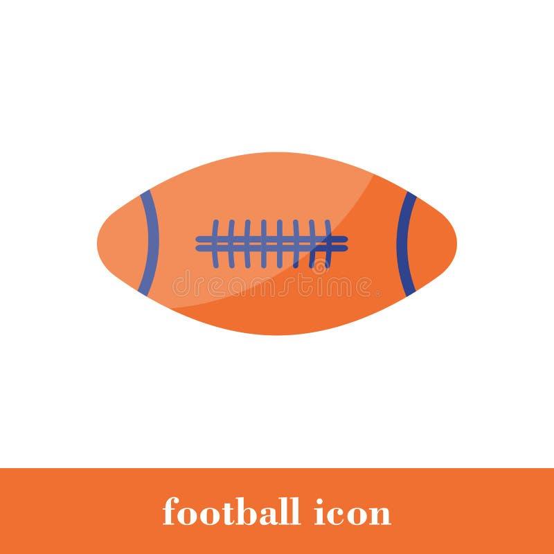 Icono del f?tbol Estilo plano Bola ilustración del vector