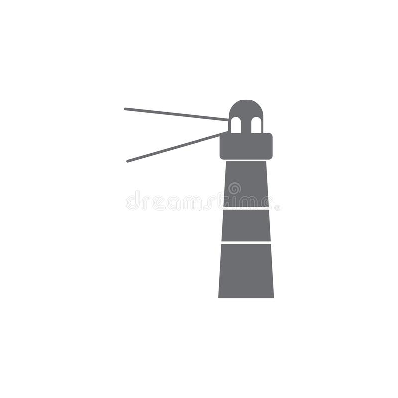 Icono del faro Ejemplo simple del elemento plantilla del diseño del símbolo del faro Puede ser utilizado para el web y el móvil libre illustration