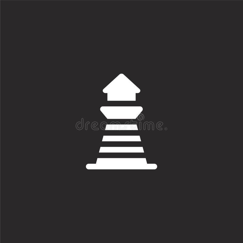 Icono del faro Icono llenado del faro para el diseño y el móvil, desarrollo de la página web del app icono del faro del edificio  libre illustration