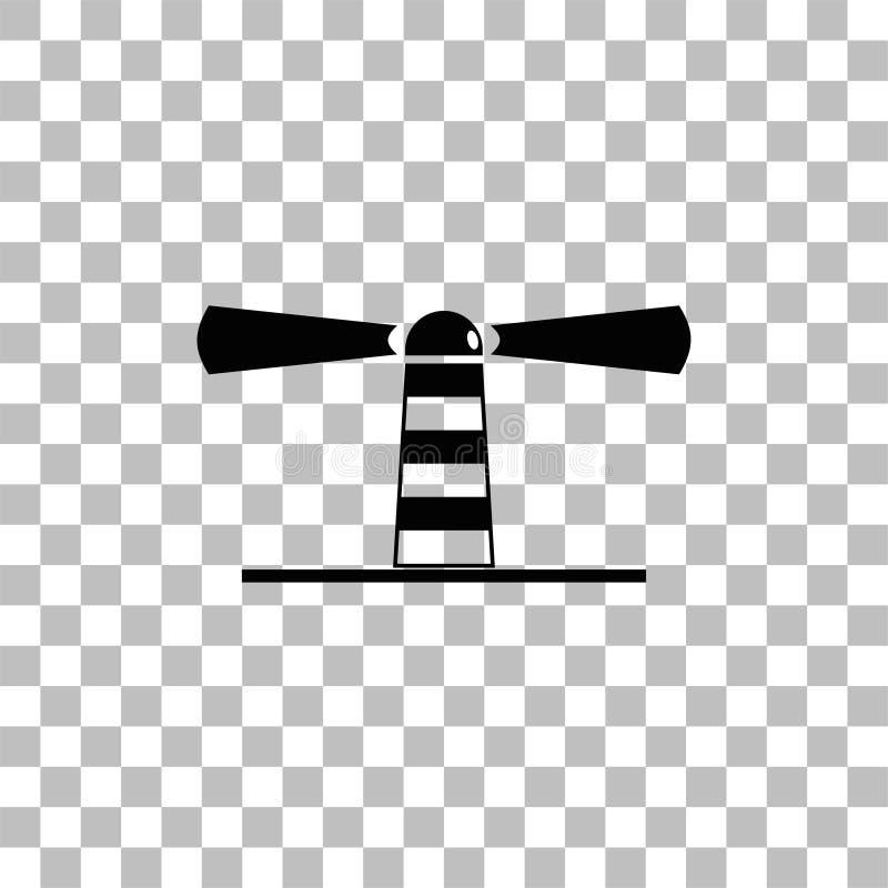 Icono del faro plano libre illustration