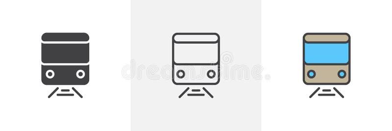 Icono del ferrocarril del tren stock de ilustración
