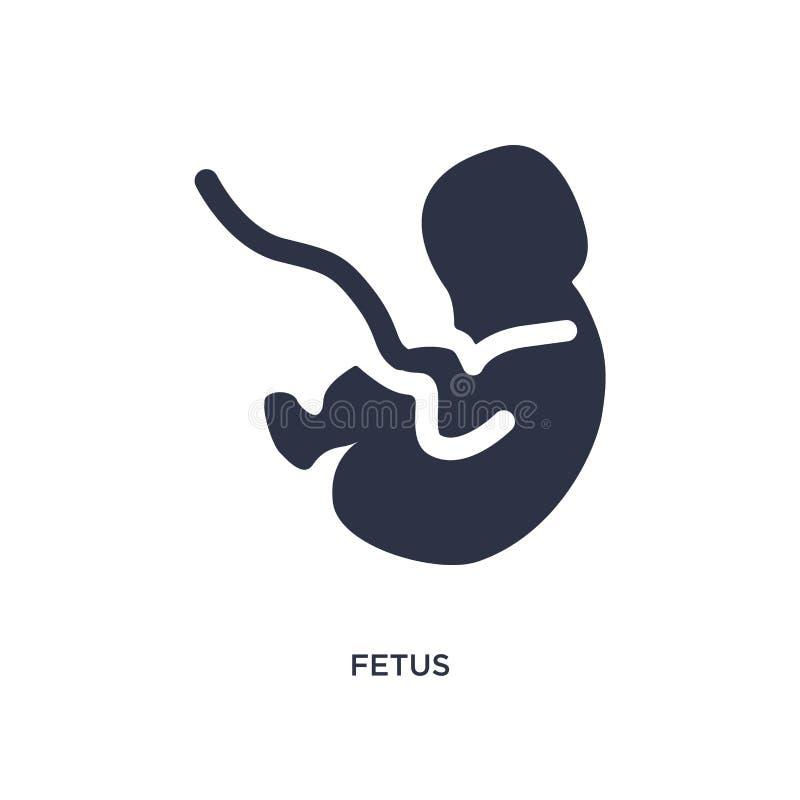 Icono del feto en el fondo blanco Ejemplo simple del elemento del concepto del niño y del bebé ilustración del vector